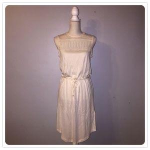 H&M. Dainty Off-White Sleeveless Dress